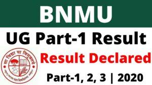 BNMU UG Result