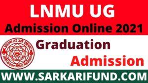 LNMU Graduation Admission
