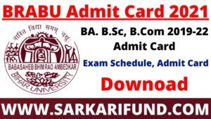 BRABU UG Part 1 Admit Card